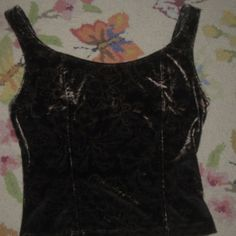dark floral velvet tank for night or day great for layers ** REDUCED Malibu Tops Tank Tops