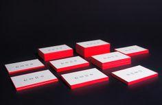 Fluo business cards by Ewelina Rosinska, via Behance