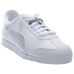 PUMA Womens Roma L Metallic Sneaker White Puma Silver 9 B US ** Continue to the product at the affiliate link Amazon.com.