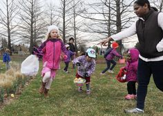Children search for eggs during an Easter egg hunt at Reiman Gardens on Saturday in Ames. Photo by Nirmalendu Majumdar/Ames Tribune