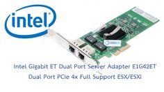 Technical Specifications ของ LAN Card Intel Pro 1000 MT Dual Port Server Specification   #Intel #LANCard #Server #VMWare