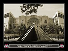 "Ohio Stadium Poster, Framed,  ""Build It For Loyalty"""