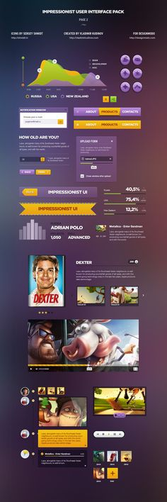 Impressionist User Interface Pack on the Behance Network