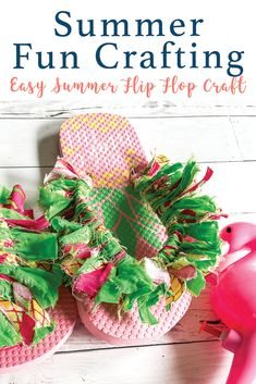 Make these darling summer flip flops with the step by step DIY from Everyday Party Magazine #FabricScraps #DIY #FlipFlops
