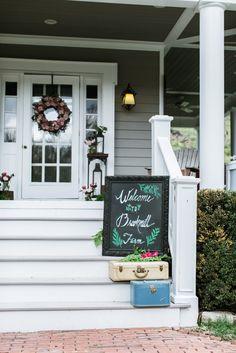Lambertville Wedding Florist - A Garden Party Florist - Emily Wren Photography - Forget Me Not Rentals - Queen Bee Paperie - styled shoot - ferns - pink garden roses - outdoor wedding - woodland wedding - lanterns
