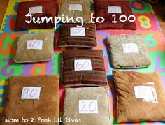 Jumping to 100 - A Counting by 10's Review Game (great for 100th Day of School too!)