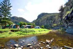 Cumberland River Holiday Park with camping and cabins accommodation is situated right on the Great Ocean Road at Cumberland River, South West of Lorne. Pit Bbq, Cumberland River, Cool Fire Pits, Holiday Park, Family Holiday, Camping Life, Camping Places, Family Camping, Rock Pools