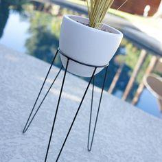 21 Medium Modern Tripod Hairpin Base Planter & Stand