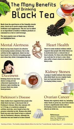 Am Drinking some vanilla black tea with almond milk very coffee like and very good. The Many Benefits of Drinking Black Tea (Infographic) Pu Erh, My Tea, Keemun Tea, Tea Recipes, Herbal Remedies, Drinking Tea, Healthy Drinks, Detox Drinks, Health And Beauty