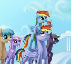 And the Equestria Games Goes To... Rainbow Dash with her Dad