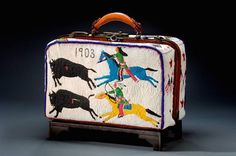 Indianz.Com > KCUR: Modern and historic Indian art on display in Kansas City Valise by Nellie Two Bear Gates