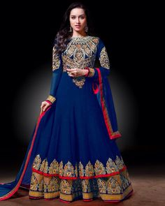8e7da25f5715 Royal blue frock suit. Nupur Gupta · Ethnic wear.