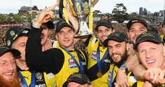 Former Melbourne skipper Garry Lyon has heaped praise on Richmond's drought-breaking Grand Final victory on the weekend, saying that he is still in awe of their emphatic win over minor premiers Adelaide. Richmond Football Club, Day Of My Life, Dream Team, Lyon, Tigers, Victorious, Melbourne, Australia, Yellow