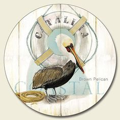 Lazy susan with Catalina   and California Brown Pelican