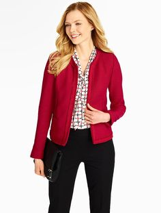 Our Textured Jacket = the perfect piece to layer on for added style.