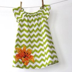 Baby girls chevron dress ETSY