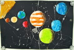 Art with Ms. Gram: Oil Pastel Solar System - Part 2 (5th)