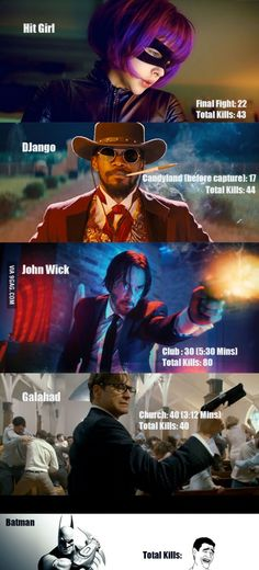 The Best Killers in Hollywood.