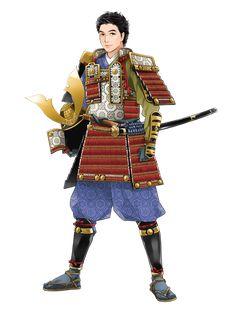 Samurai, Character, Lettering, Samurai Warrior