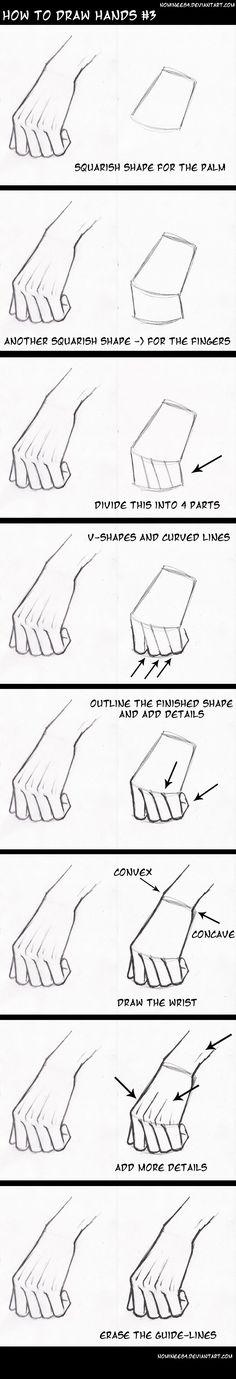 how to draw hands3 by nominee84.deviantart.com on @DeviantArt #Anatomytutorial