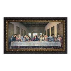 The Last Supper Redone W/ Dark Ornate Frame (5x10)