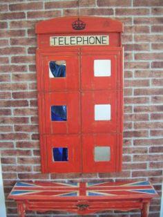 He realizado, espejo modo de cabina londinense para decorar. http://tumuebleconsolajvg.webs.tl