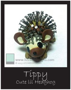 Tippy  Handmade OOAK Hedgehog Collectible by LIZZARDDESIGNS, $58.00