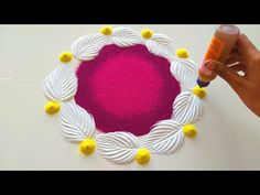 Diwali Special Rangoli Designs | Simple Small Easy Festival Rangoli Design/Satisfying Rangoli Videos - YouTube Rangoli Designs Simple Diwali, Simple Rangoli Border Designs, Diwali Special Rangoli Design, Free Hand Rangoli Design, Small Rangoli Design, Colorful Rangoli Designs, New Mehndi Designs, Beautiful Rangoli Designs, Henna Tattoo Designs
