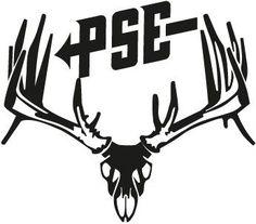 PSE Whitetail Buck Skull Hunting Decal Sticker