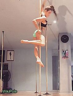 georgiabeth_ - The split itself isn't too hard but getting in and out sure is! #WikiPole #poledance