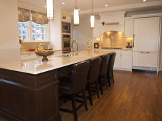Island is constructed of dark stained cherry,