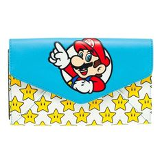 Nintendo Super Mario and Stars Envelope Clutch Purse