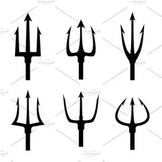 Pitchfork tool object, pitchfork weapon, pitchfork sharp fork i by Microvector Diablo Tattoo, Fork Drawing, Providence Tattoo, Trident Tattoo, Laser Tattoo, Butterfly Drawing, Business Illustration, Silhouette Vector, Tattoo Sketches