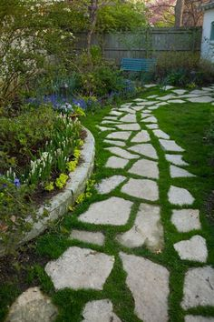 A gentle and organic way to create paths in your backyard.