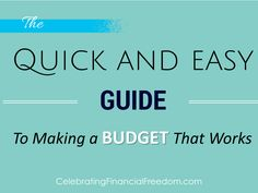 Making a budget is easy when you know how to do it right!  My latest book shows you how to quickly and easily start a budget that you can actually stick to.   Check it out on the Celebrating Financial Freedom blog.  #book #budget #budgeting #finances  http://www.cfinancialfreedom.com/how-to-budget-book-2/