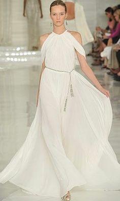 Ralph Lauren SS12 STUNNING Grecian Dress~Wedding Gown NWT sz 8~Seen on RL runway