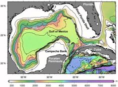 Gulf Of Mexico Water Depths Continental Shelf, Water Quality, Gulf Of Mexico, Paranormal Romance, Marine Life, Geology, Coastal, Deep Breath
