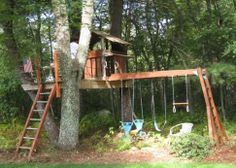 Transform Your Swing Set Into A Tree House For Growing Kids - PLANETPALS - Open Salon