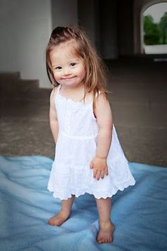 Adorable ♥ Jolina - little Girl with Down Syndrome and a great future. Precious Children, Beautiful Children, Beautiful Babies, Beautiful People, Beautiful Smile, Little People, Little Ones, Little Girls, Adorable Little Girl