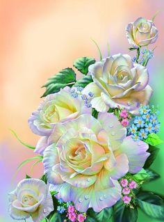 This site has lots of beautiful paintings - rfm Art Floral, Floral Theme, Flower Wallpaper, Wallpaper Backgrounds, Graffiti Kunst, Rose Art, China Painting, Beautiful Paintings, Beautiful Roses