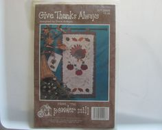 Wall Quilt Hanging Pattern Give Thanks by TrinasCraftPatterns