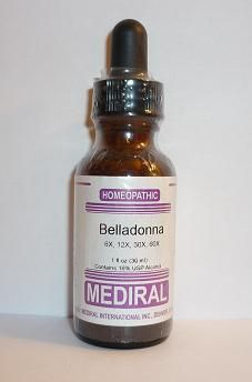 Natural Remedy for Headache, Barking Cough, Inflammation, High Fevers   Belladonna Homeopathic by Mediral (1 fl. oz) www.evitaminmarket.com