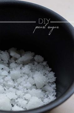 DIY Pearl Sugar // use this in the Liege Waffles if you can't find the real stuff.  from: The Pancake Princess