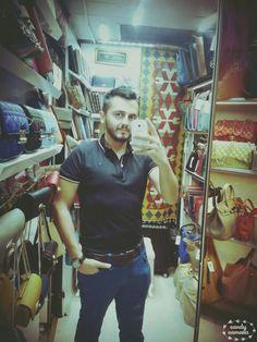 In grand bazaar. Istanbul.leatherbag