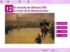 T.12 El reinado de Alfonso XIII (2014) by Isabel Moratal via slideshare