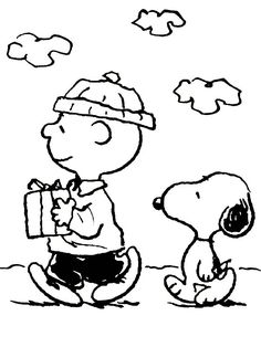 Charlie Brown and Snoopy Christmas Coloring Page - Cartoon, Cartoon Coloring Pages On do Coloring Pages Snoopy Coloring Pages, Free Halloween Coloring Pages, Birthday Coloring Pages, Christmas Coloring Pages, Coloring Pages To Print, Coloring For Kids, Printable Coloring, Coloring Pages For Kids, Coloring Sheets