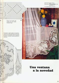 """Photo from album """"Вязание on Yandex. Crochet Chart, Filet Crochet, Knit Crochet, Crochet Edgings, Crochet Curtains, Views Album, Projects To Try, Knitting, Simple"""