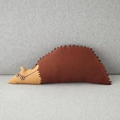 Kids' Throw Pillows: Kids' Hedgehog Throw pillow