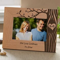 Carved In Love Personalized Photo Frame