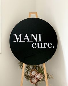 From time to time, businesses come to me for logo signage - they're lots of fun as the canvases are usually quite a bit larger! This one is for @_mani_cure who are about to open their home salon in anticipation of Level 2 🤞🏻 #smallbusiness